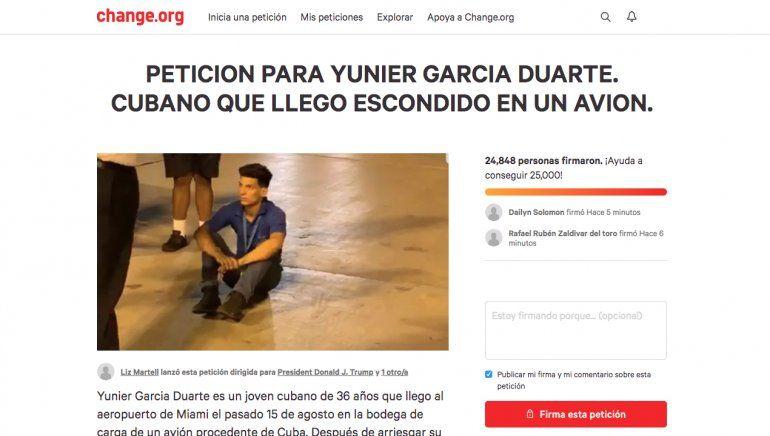 Miami: recogen 24 mil firmas para que polizón cubano no sea devuelto a la isla
