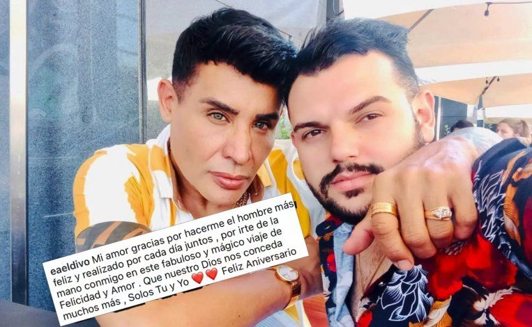 El Divo de Placetas celebra el primer aniversario con su novio