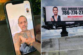 marc anthony se venga de enrique santos publica su numero de telefono en una valla publicitaria en hialeah