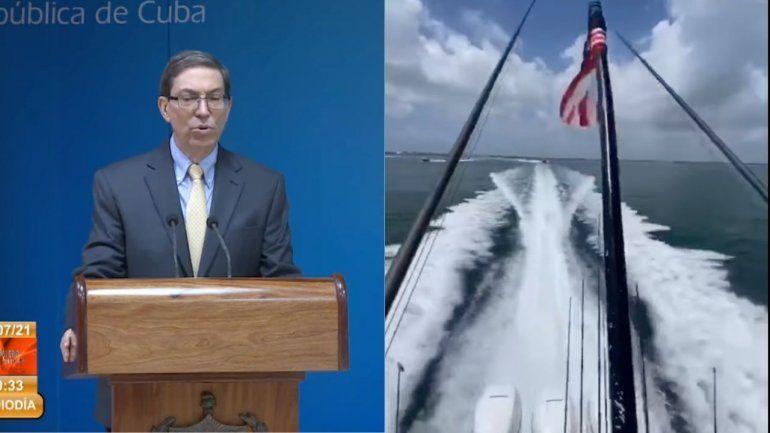 Bruno Rodríguez amenaza a flotilla de exiliados cubanos que ya están cerca de Cuba