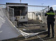 queman un centro de pruebas de covid-19 en holanda