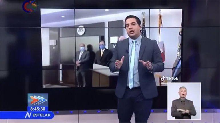 Humberto López reaparece en la tv cubana exhibiendo el arsenal legal del régimen cubano contra la oposición y el exilio