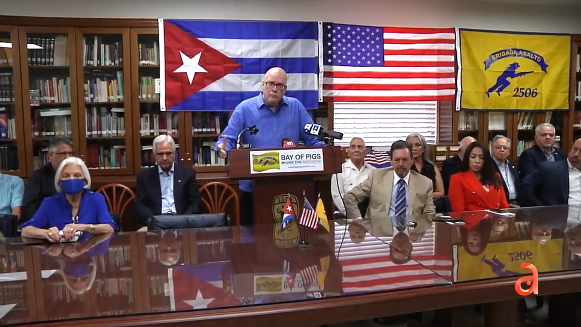 coalicion del exilio cubano en miami se pronuncian en apoyo al paro nacional por la libertad de cuba