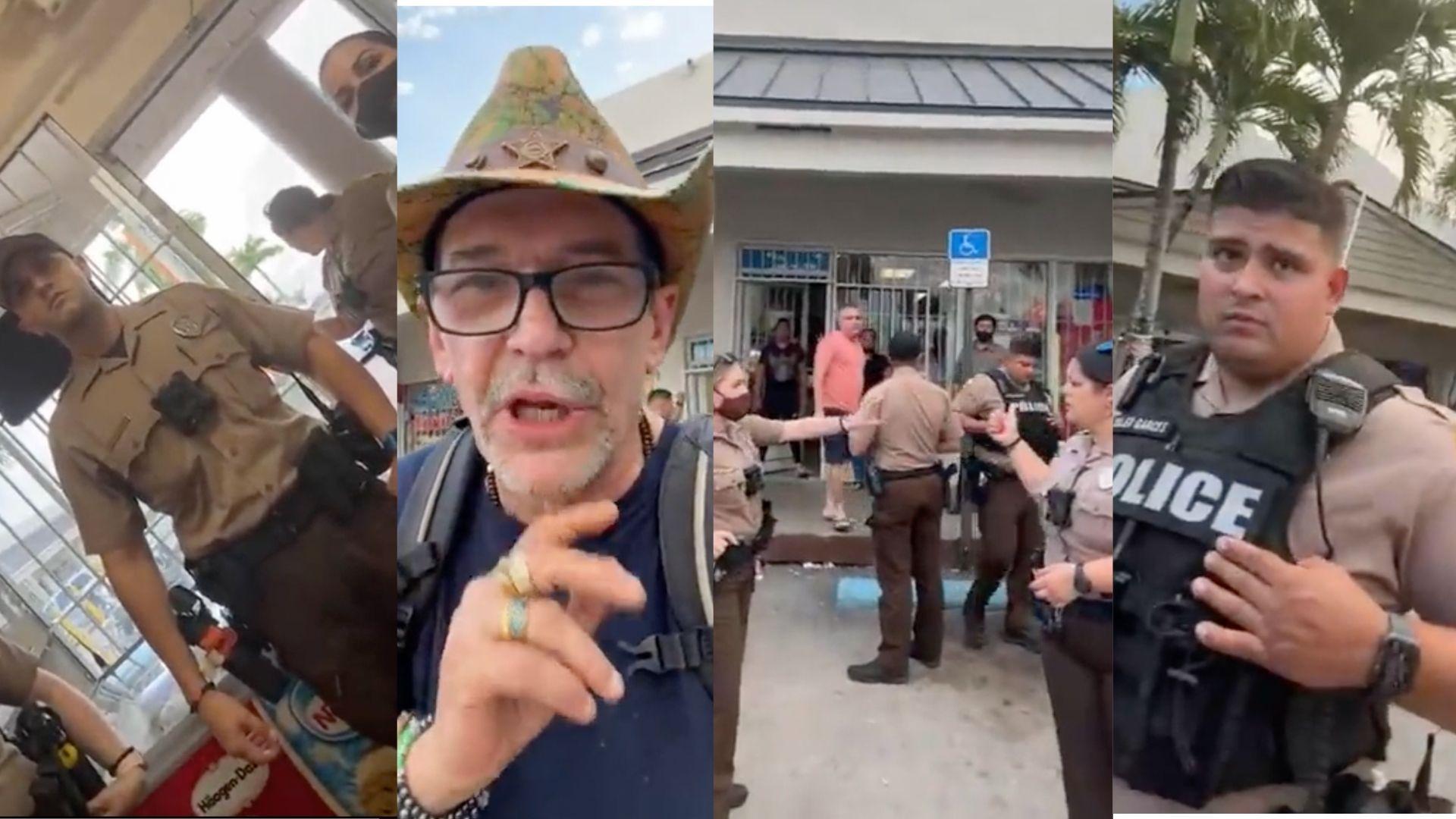 video:  policias sacan a edmundo garcia de un mercado de miami  tras protagonizar otro escandalo