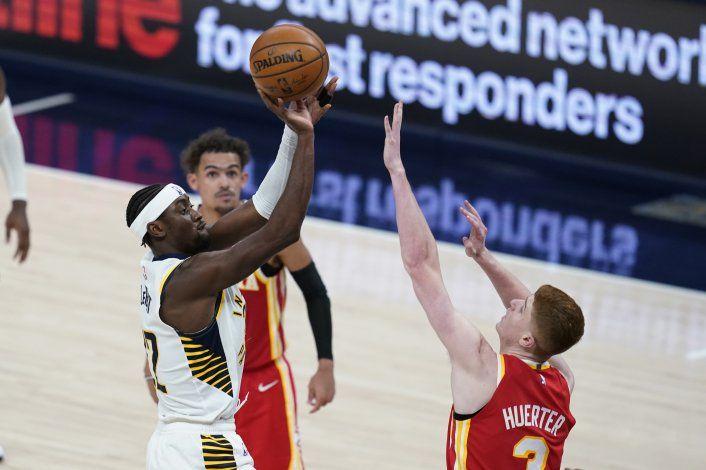 Pacers vencen a Hawks, con final explosivo de LeVert