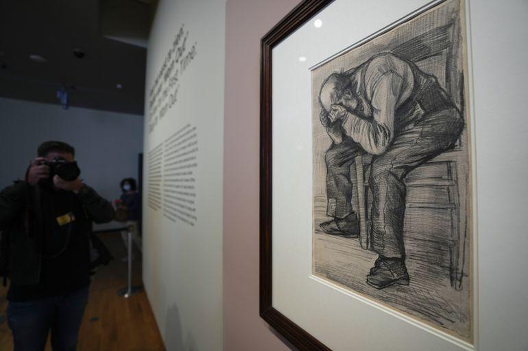 Nuevo dibujo de Van Gogh se exhibe en museo de Ámsterdam