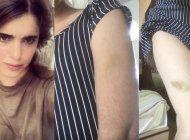 carolina barrero: agredida, desnudada y acusada de desacato por la policia cubana