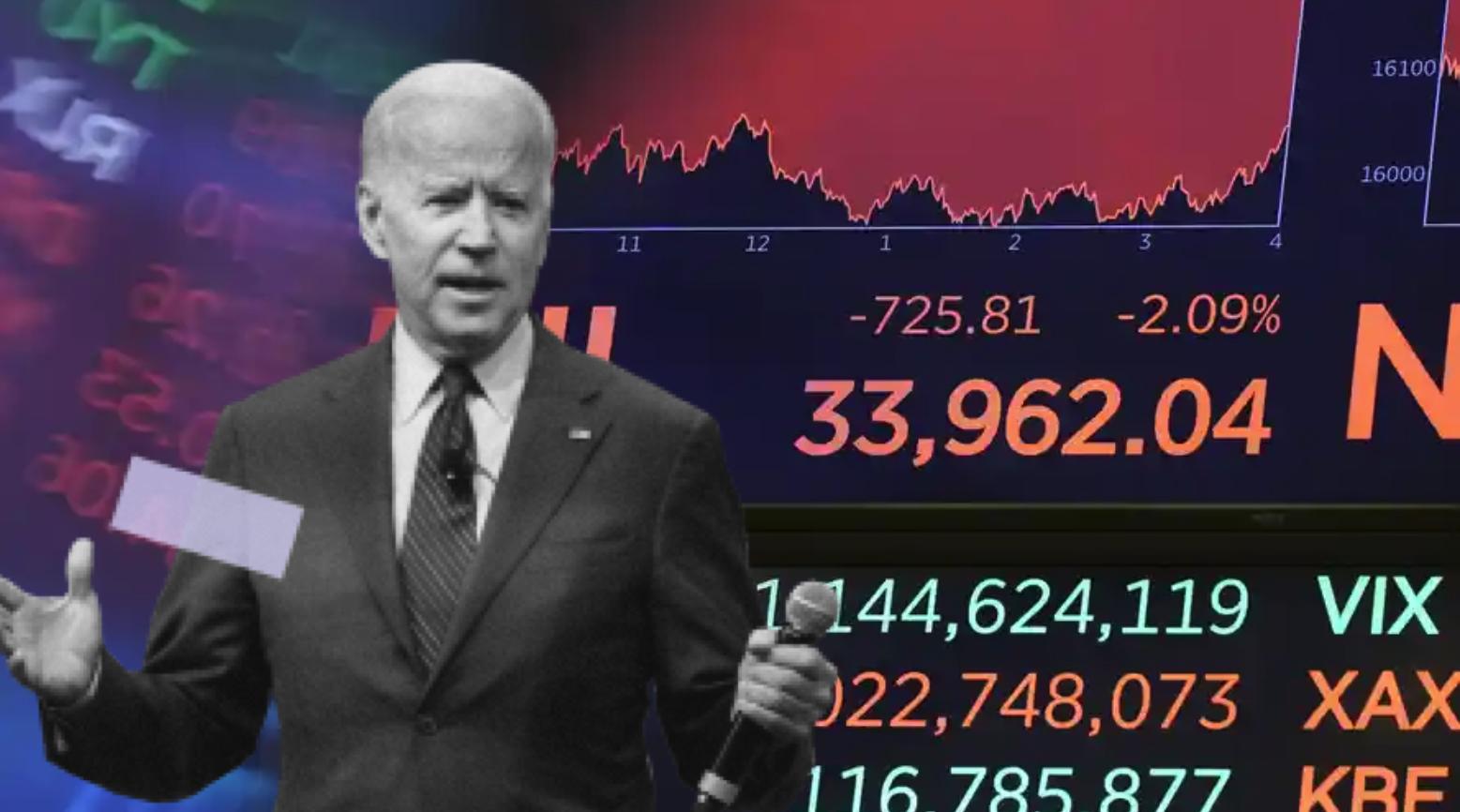 el dow jones pierde 800 puntos, encaminandose al peor dia desde octubre de 2020, a medida que se intensifica la caida del mercado