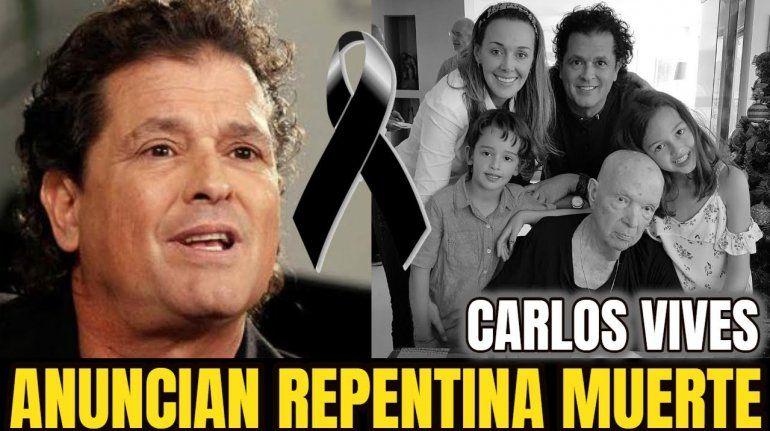 Carlos Vives de luto por la muerte de su padre