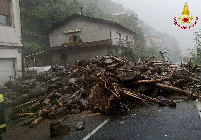 Norte de Italia sufre fenómenos meteorológicos extremos