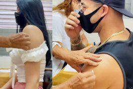 yomil y daniela reyes se vacunan contra el coronavirus en cuba