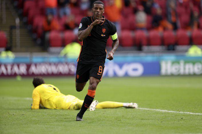 Wijnaldum anota 2 y Holanda golea a Macedonia del Norte