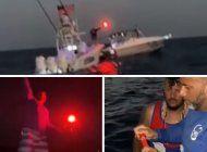 asi la flotilla de exiliados cubanos de miami lanzaron bengalas frente a las costas de cuba