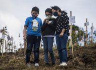 plantan arboles con cenizas de victimas de covid en colombia