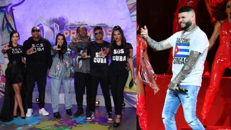 #SOSCuba: Camila Cabello, Yotuel, Gente de Zona y más artistas piden libertad para Cuba en los Premios Juventud