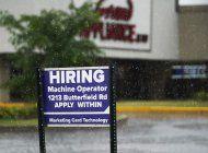 eeuu: seguro de desempleo, en su nivel mas bajo en meses