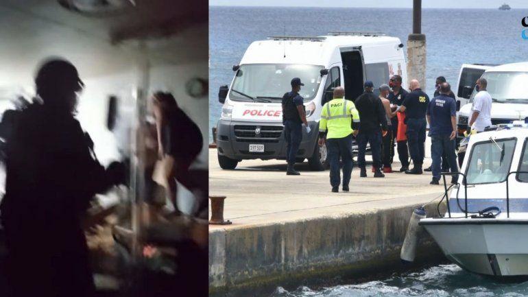 Fuerzas especiales de Islas Cayman asaltaron esta noche el barco en que permanecían una docena de cubanos encerrados