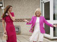 Kate Middleton y Jill Biden se mostraron alegres y sonrientes en el encuentro