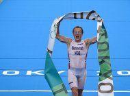 noruego blummenflet gana el oro en el triatlon varonil