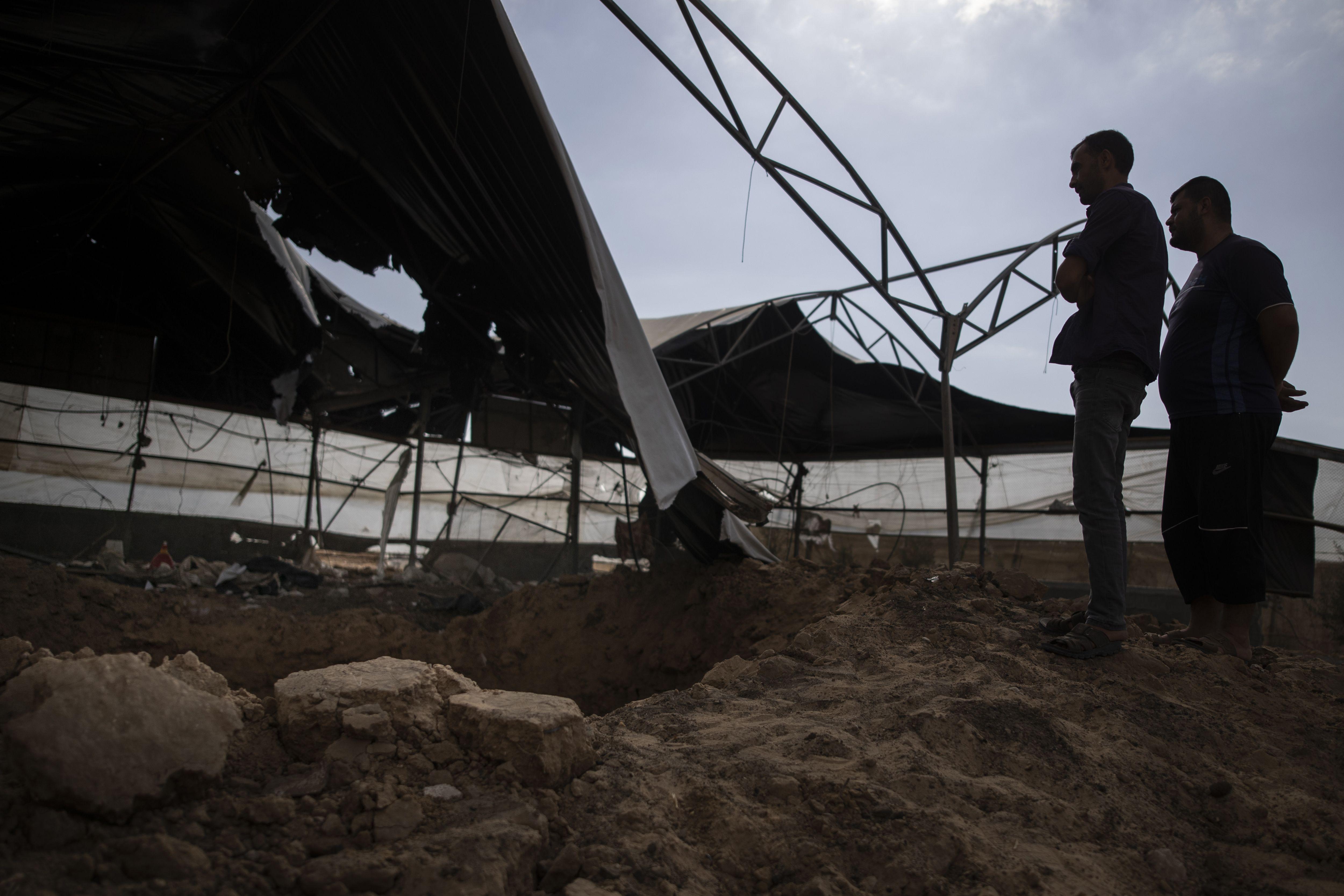 aviacion israeli ataca objetivos en la franja de gaza