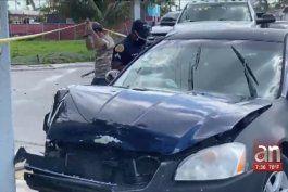tiroteo causa un accidente entre dos carros en la ciudad de miami