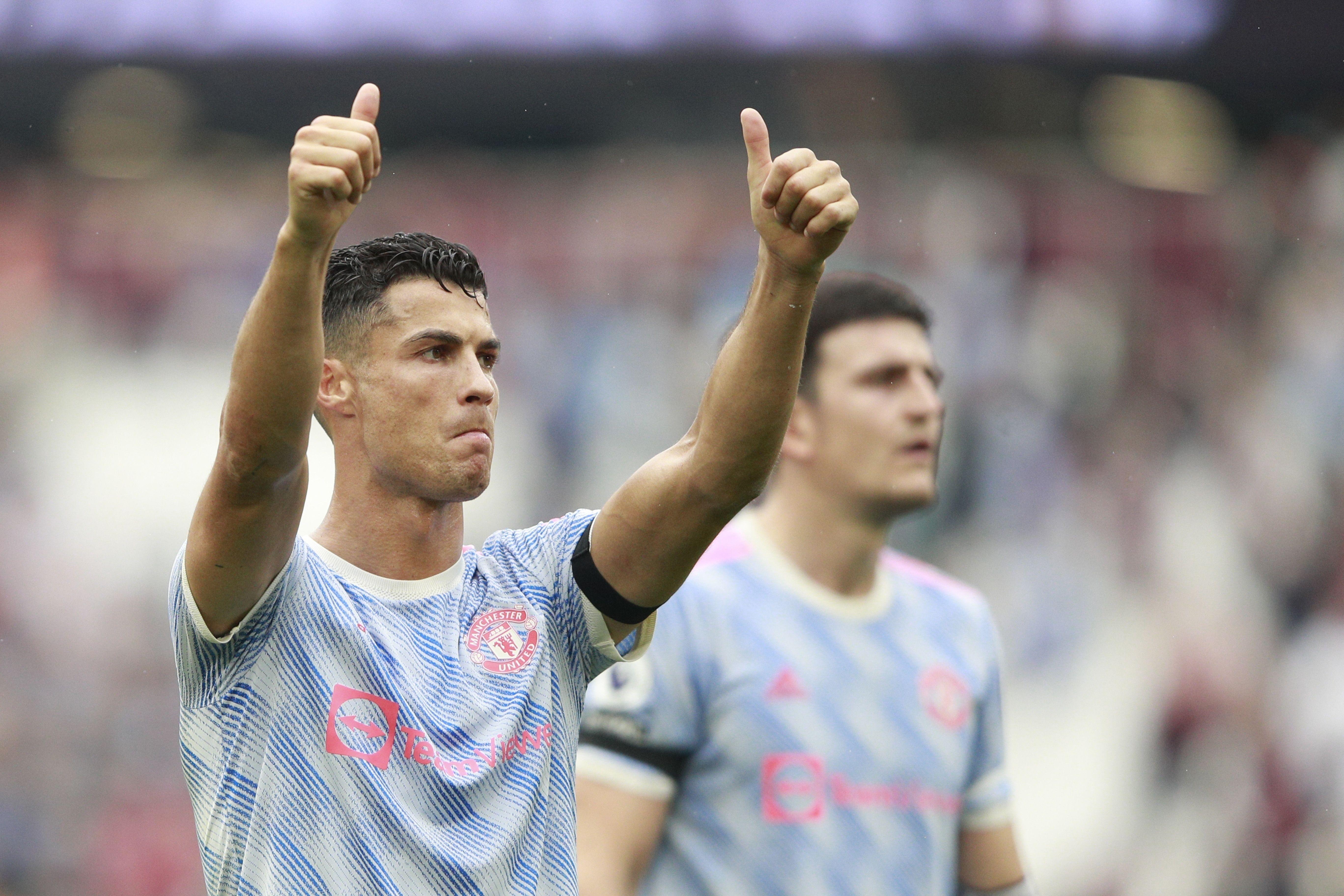 Cristiano lidera remontada de Man United ante West Ham