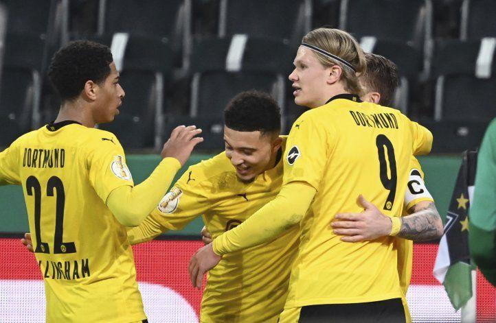 Con gol de Sancho, Dortmund está en la semifinal de Copa