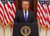donald trump dio su discurso de despedida: hicimos lo que vinimos a hacer y mucho mas