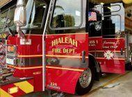 departamento de bomberos de hialeah estreno nuevo camion electrico