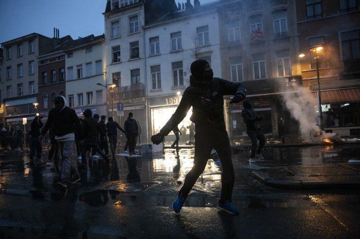 Bruselas: 4 detenidos en protesta por muerte de joven negro