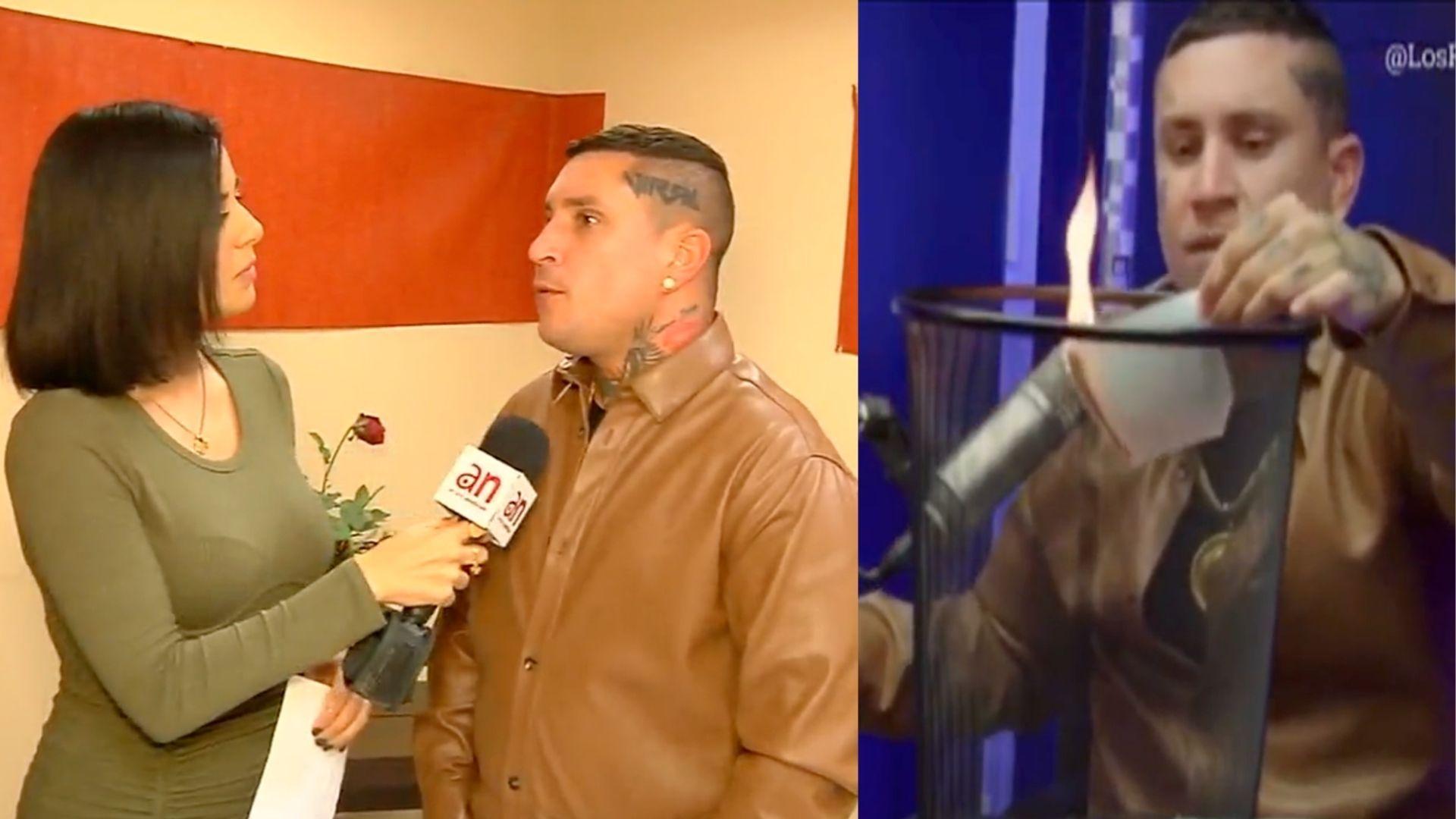 osmani garcia quema su pasaporte cubano e insta a no viajar mas a cuba