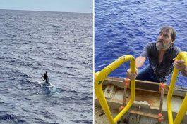 marinero de florida encontrado aferrado a la punta de un barco que se hundia dos dias despues de desaparecer