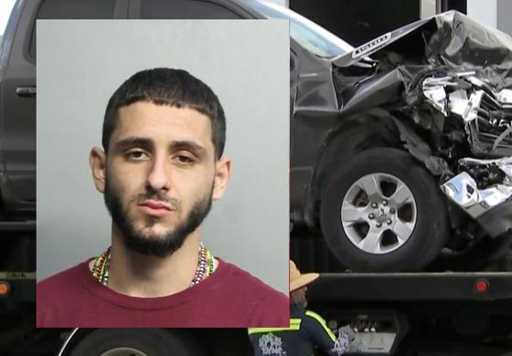 Joven origen cubano arrestado en Hialeah tras chocar y robar una camioneta