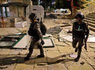 balas de goma y granadas causan estragos en jerusalen