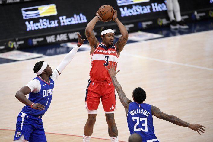 Wizards superan a Clippers, gracias a 33 puntos de Beal
