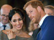 Meghan Markle y su esposo el príncipe Harris.