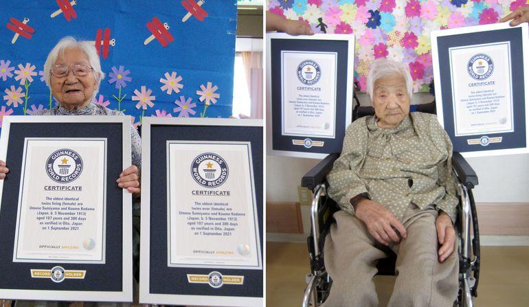 Gemelas japonesas de 107 años rompen récord de longevidad