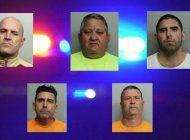 cinco hombres de origen cubano arrestados en homestead por  intentar robar cables de cobre de la compania at&t
