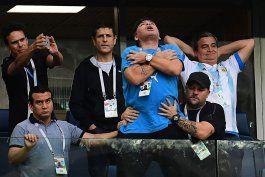 el vergonzoso momento de maradona en el mundial rusia 2018