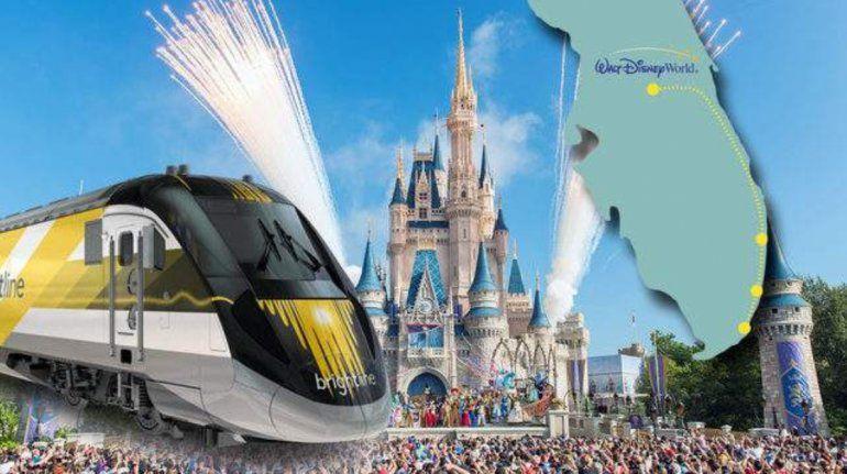 Brightline anuncia estación que conectaría el sur de Florida con Walt Disney World