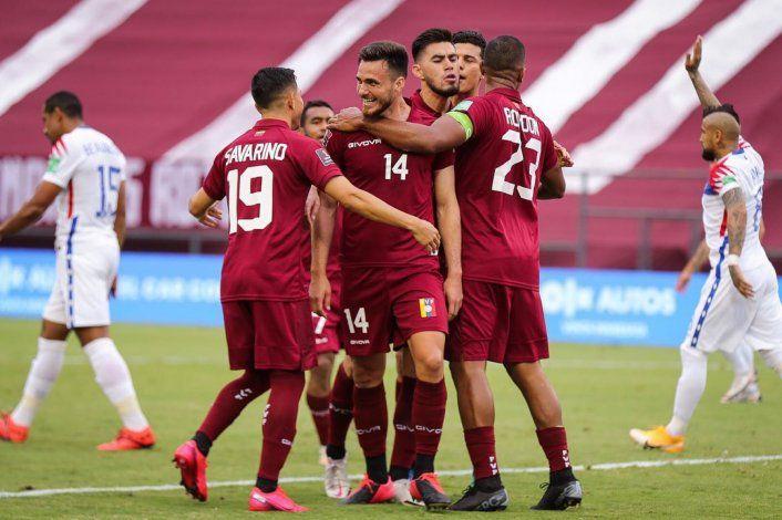 Venezuela derrotó (2-1) a Chile por las Eliminatorias Qatar 2022