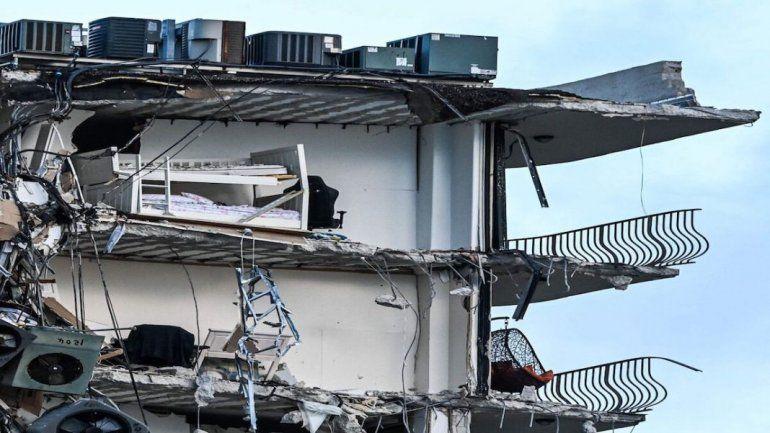 Cuatro argentinos desaparecidos tras el derrumbe de edificio en Miami