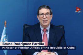 bruno rodriguez dice que cuba demuestra que es posible un modelo alternativo al capitalismo