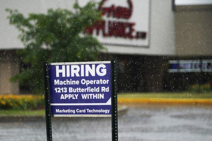 EEUU: Seguro de desempleo, en su nivel más bajo en meses