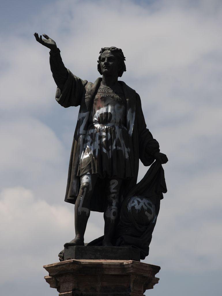 México: estatua de Colón aún no está lista para reaparecer