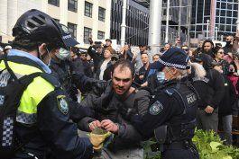 protestas contra encierros de coronavirus en australia