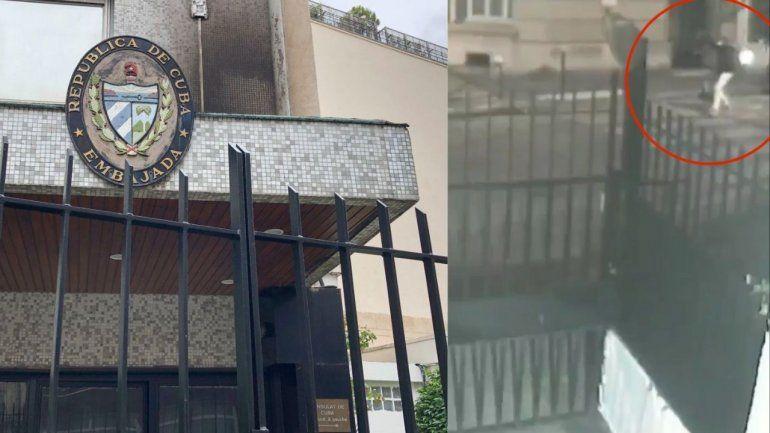 VIDEO: Cuba revela el video del supuesto ataque contra su embajada en París