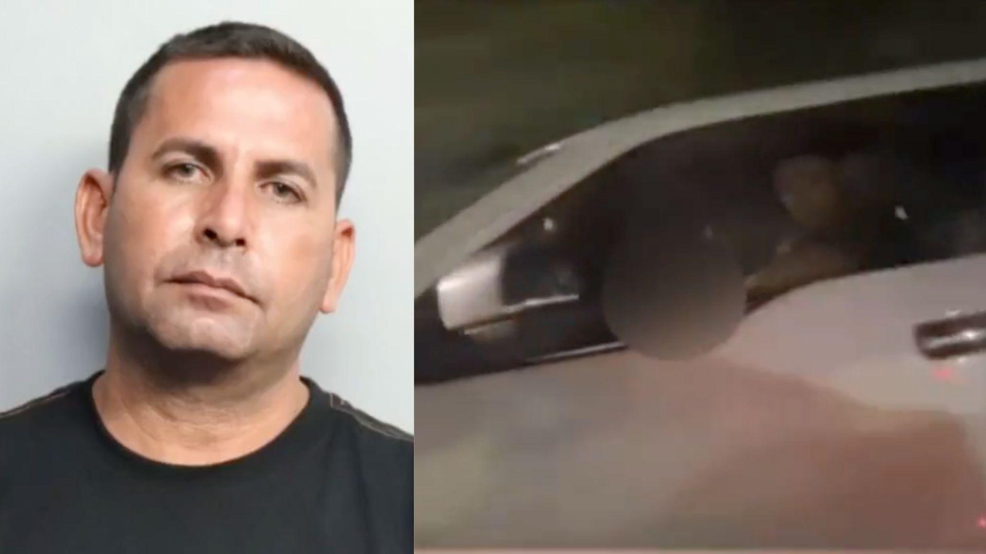 arrestan a un hombre que se masturbo frente a dos mujeres mientras manejaba en el area de kendall