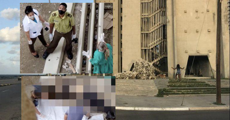 VIDEO: Joven se suicida en La Habana al lanzarse del piso 14 del edificio Girón