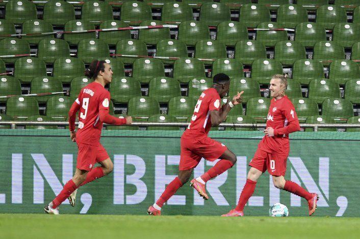 Leipzig supera a Bremen y es finalista en Copa de Alemania